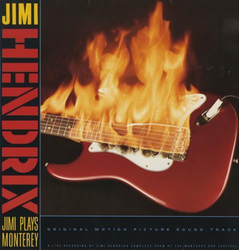 Jimi Hendrix Jimi Plays Monterey vinyl LP album (LP record) German HENLPJI230287