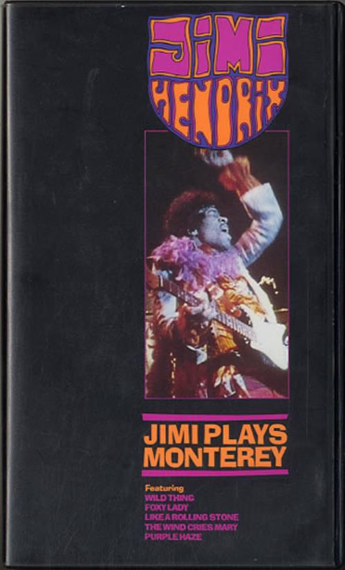 Jimi Hendrix Jimi Plays Monterey video (VHS or PAL or NTSC) UK HENVIJI631894