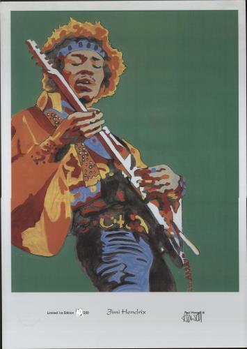 Jimi Hendrix Limited Edition Print - 250 Only artwork UK HENARLI383784