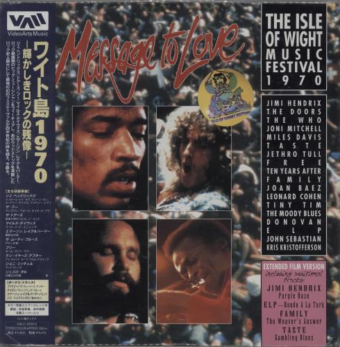 Jimi Hendrix Message To Love: The Isle of Wight Music Festival 1970 laserdisc / lazerdisc Japanese HENLZME669603