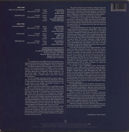 Jimi Hendrix Nine To The Universe - EX vinyl LP album (LP record) US HENLPNI629718