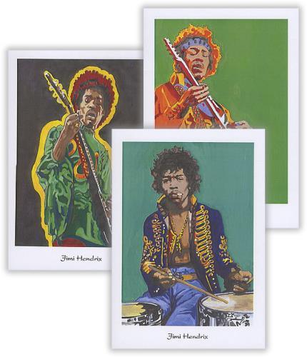 Jimi Hendrix Pack Of Greetings Cards memorabilia UK HENMMPA388656