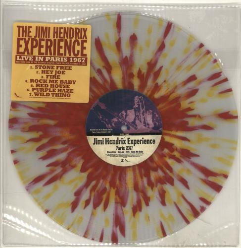 Jimi Hendrix Paris 1967 vinyl LP album (LP record) US HENLPPA558436
