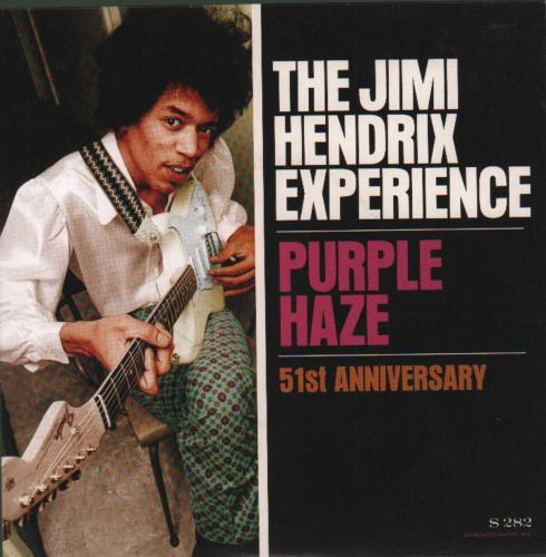"Jimi Hendrix Purple Haze 7"" vinyl single (7 inch record) US HEN07PU682928"