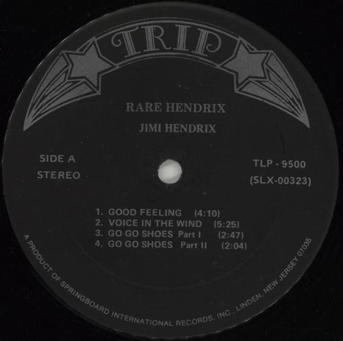 Jimi Hendrix Rare Hendrix vinyl LP album (LP record) US HENLPRA765131