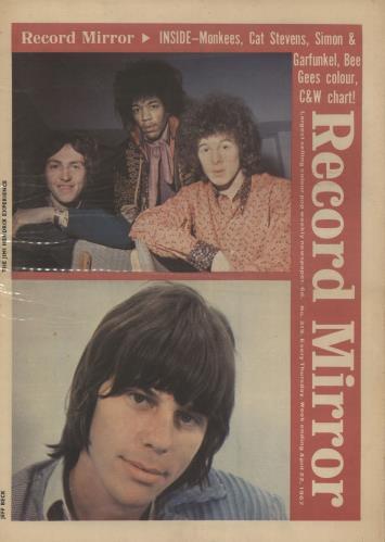 Jimi Hendrix Record Mirror April 22nd 1967 magazine UK HENMARE739686