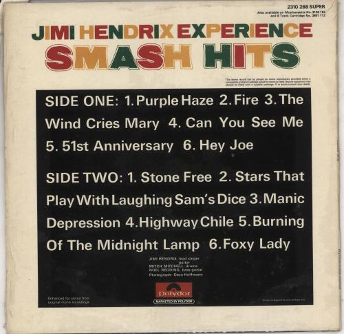 Jimi Hendrix Smash Hits - Shrink vinyl LP album (LP record) UK HENLPSM734306