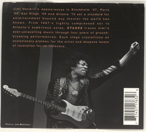 Jimi Hendrix Stages 4-CD album set Dutch HEN4CST287358