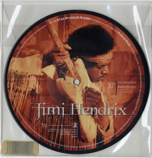 "Jimi Hendrix Star Spangled Banner 7"" vinyl picture disc 7 inch picture disc single US HEN7PST142201"