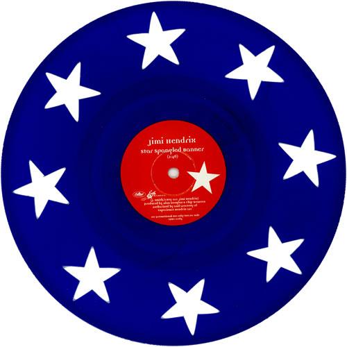 "Jimi Hendrix Star Spangled Banner 10"" vinyl single (10"" record) US HEN10ST460088"