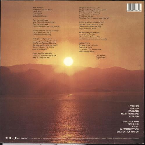 Jimi Hendrix The Cry Of Love - 180 gram vinyl LP album (LP record) UK HENLPTH738827