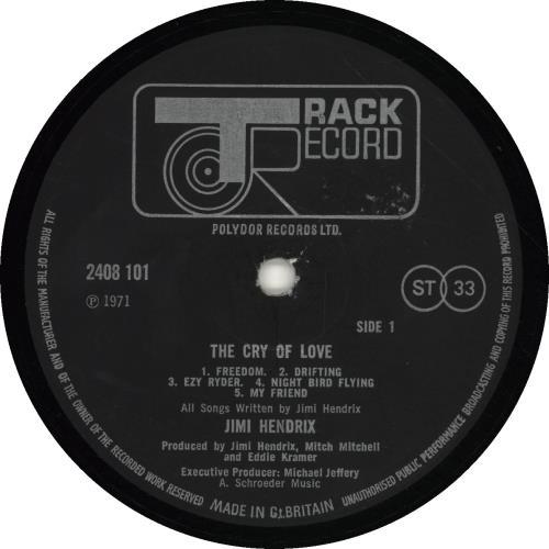 Jimi Hendrix The Cry Of Love - EX vinyl LP album (LP record) UK HENLPTH544755