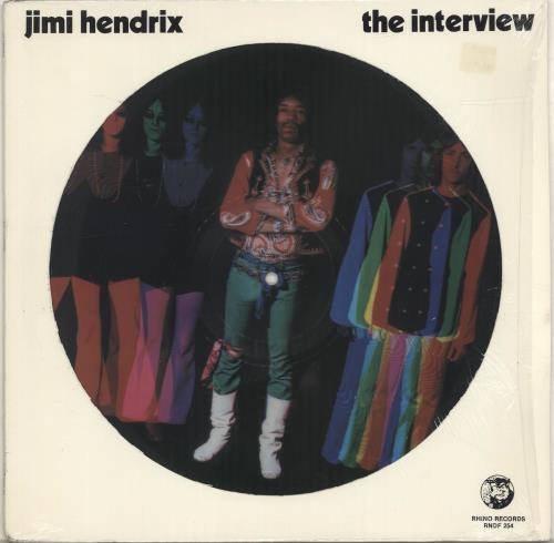 Jimi Hendrix The Interview - Opened shrink picture disc LP (vinyl picture disc album) US HENPDTH528200