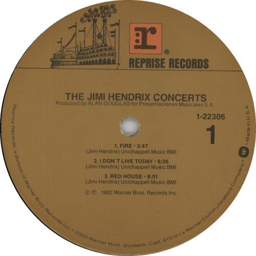 Jimi Hendrix The Jimi Hendrix Concerts 2-LP vinyl record set (Double Album) US HEN2LTH646784