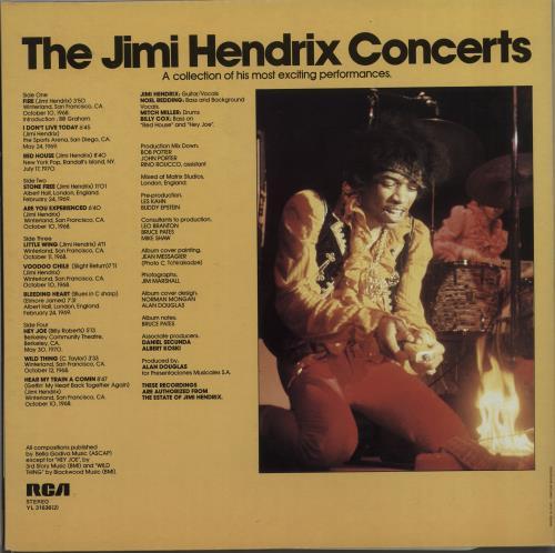 Jimi Hendrix The Jimi Hendrix Concerts 2-LP vinyl record set (Double Album) Italian HEN2LTH667521