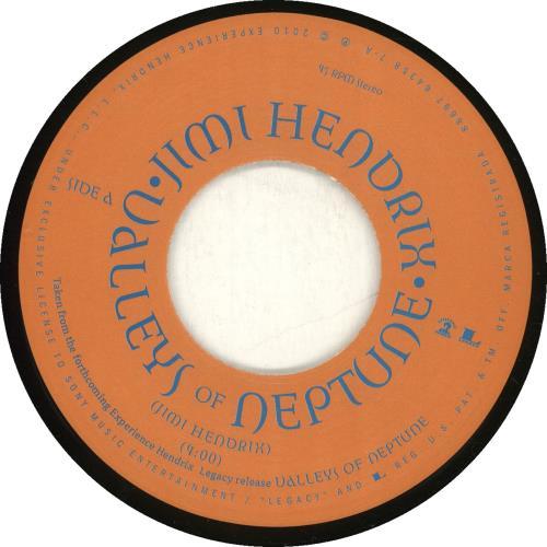 "Jimi Hendrix Valleys Of Neptune + Shrinkwrap 7"" vinyl single (7 inch record) US HEN07VA703417"
