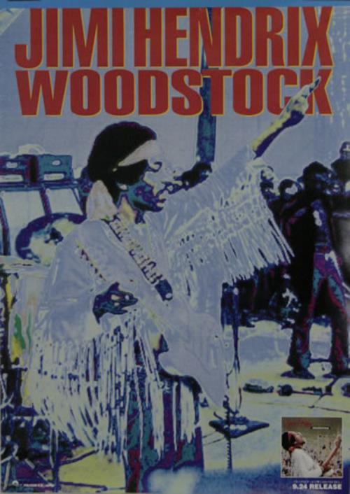 Jimi Hendrix Woodstock Japanese Promo Poster 488585