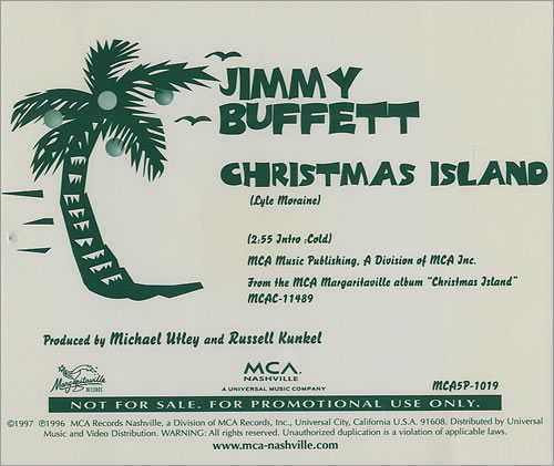 jimmy buffett christmas island cd single cd5 5 us jbuc5ch437143