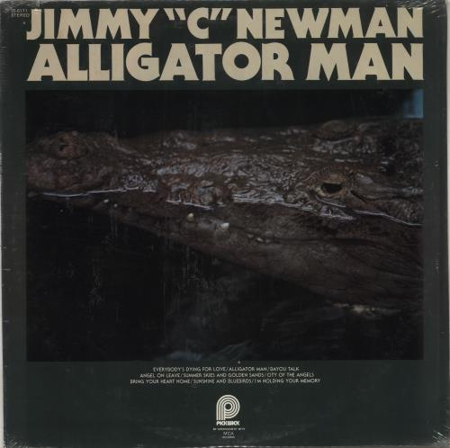 Jimmy C. Newman Alligator Man - Sealed vinyl LP album (LP record) US JN0LPAL708697