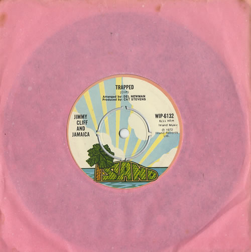 """Jimmy Cliff Trapped 7"""" vinyl single (7 inch record) UK JCL07TR442899"""