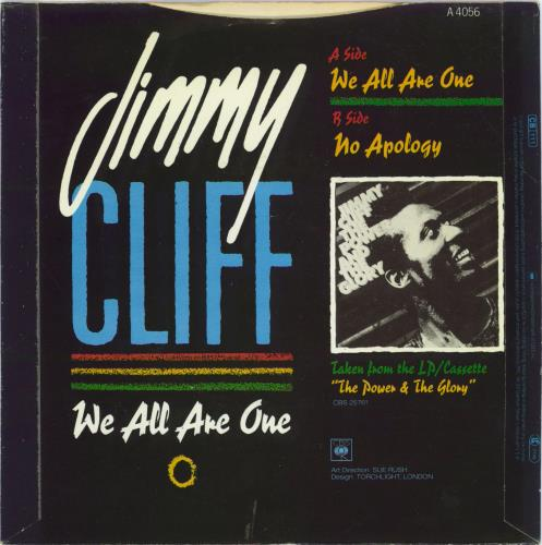 """Jimmy Cliff We All Are One 7"""" vinyl single (7 inch record) UK JCL07WE770859"""