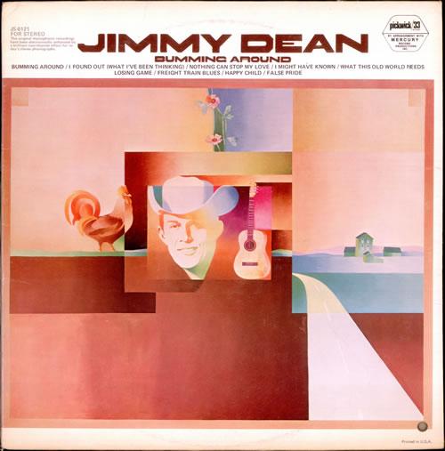 Jimmy Dean Bumming Around vinyl LP album (LP record) Canadian JD-LPBU524447