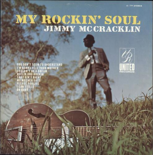 Jimmy McCracklin My Rockin' Soul vinyl LP album (LP record) US JAULPMY737540