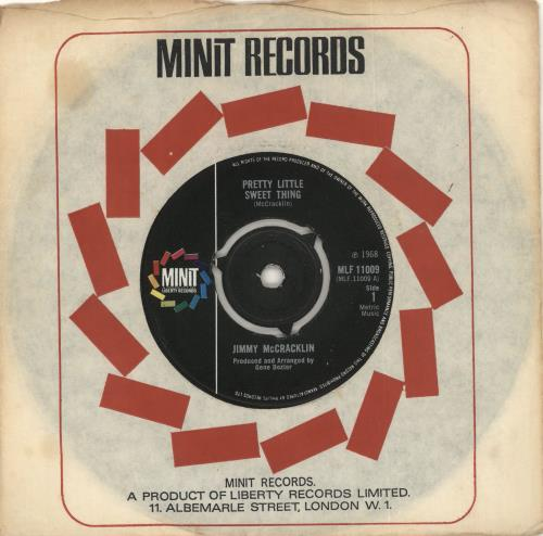 "Jimmy McCracklin Pretty Little Sweet Thing 7"" vinyl single (7 inch record) UK JAU07PR720202"