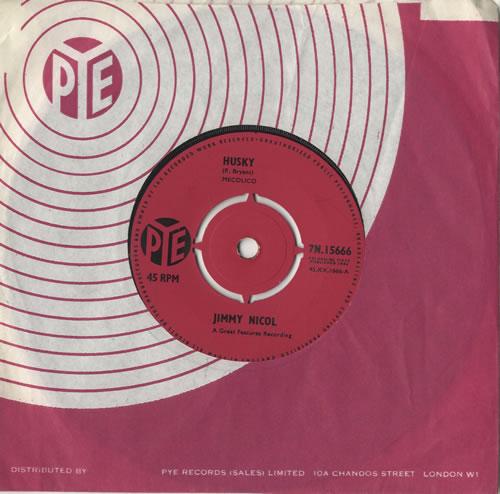 "Jimmy Nicol Husky 7"" vinyl single (7 inch record) UK NI307HU471335"