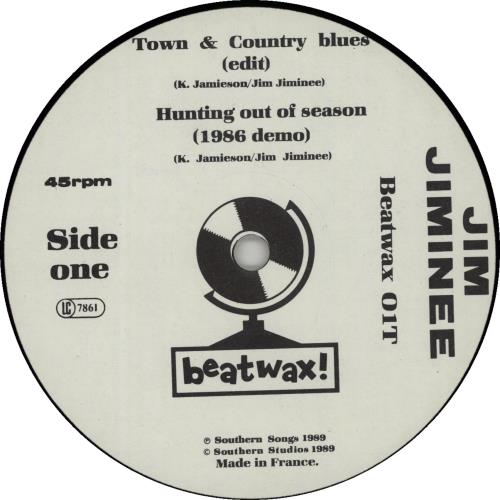 """Jim Jiminee Town & Country Blues 12"""" vinyl single (12 inch record / Maxi-single) French K8M12TO645156"""