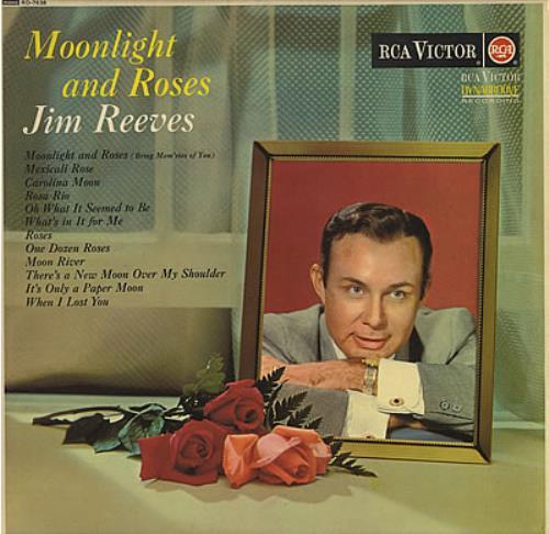 Jim Reeves Moonlight And Roses Uk Vinyl Lp Album Lp
