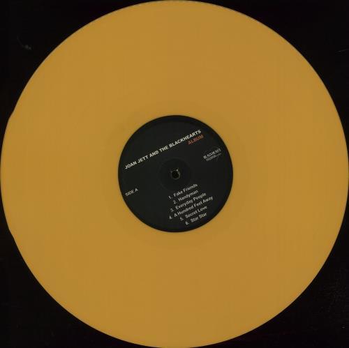 Joan Jett Album - 180gram Yellow Vinyl + Bonus CD + Numbered Sleeve vinyl LP album (LP record) US JETLPAL666417