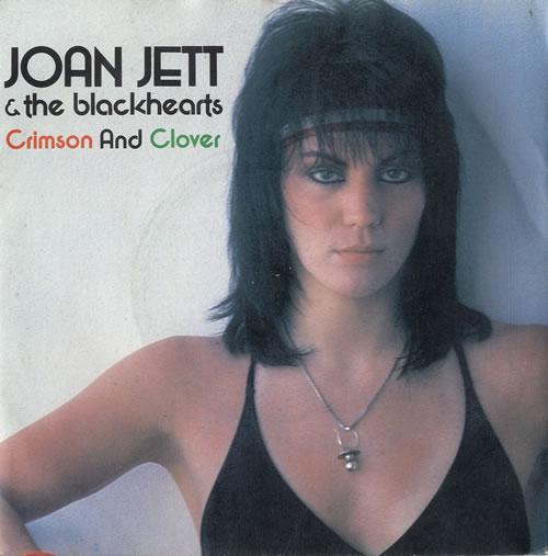 """Joan Jett Crimson And Clover 7"""" vinyl single (7 inch record) UK JET07CR598870"""