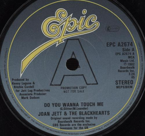 """Joan Jett Do You Wanna Touch Me (Oh Yeah) - A-label 7"""" vinyl single (7 inch record) UK JET07DO07545"""