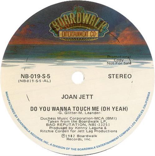 "Joan Jett Do You Wanna Touch Me (Oh Yeah) 12"" vinyl single (12 inch record / Maxi-single) US JET12DO422567"
