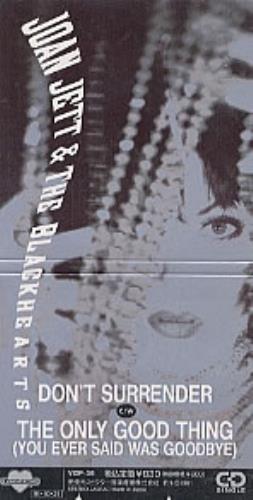 """Joan Jett Don't Surrender 3"""" CD single (CD3) Japanese JETC3DO135643"""