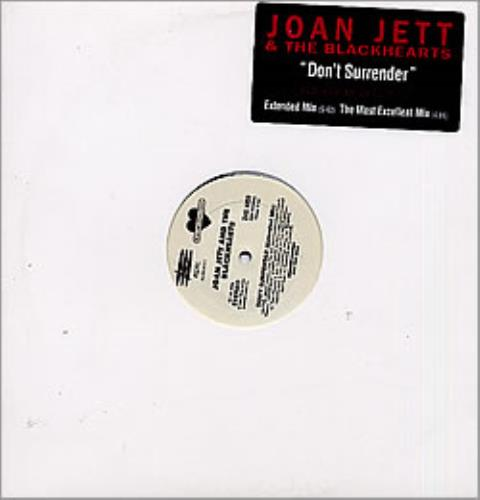 "Joan Jett Don't Surrender 12"" vinyl single (12 inch record / Maxi-single) US JET12DO148946"