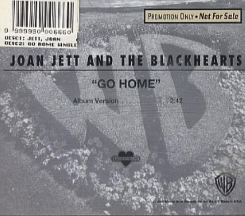 "Joan Jett Go Home CD single (CD5 / 5"") US JETC5GO31265"