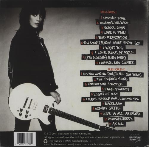 Joan Jett Greatest Hits 2-LP vinyl record set (Double Album) US JET2LGR666804
