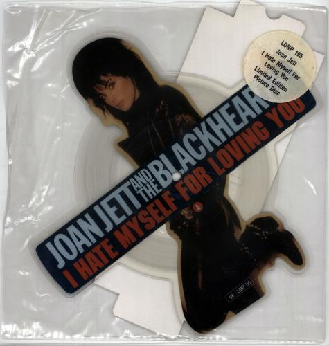 Joan Jett I Hate Myself For Loving You shaped picture disc (picture disc vinyl record) UK JETSHIH05787