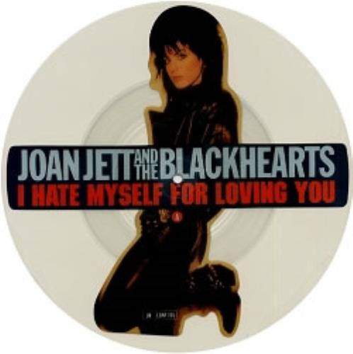Joan Jett I Hate Myself For Loving You uncut picture disc (vinyl) UK JETUNIH84634