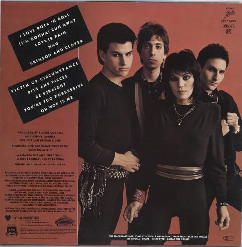 Joan Jett I Love Rock 'N Roll vinyl LP album (LP record) UK JETLPIL335035
