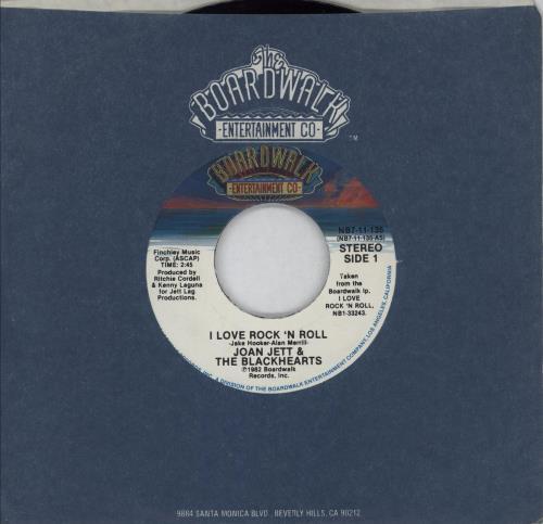 """Joan Jett I Love Rock 'N Roll 7"""" vinyl single (7 inch record) US JET07IL572223"""