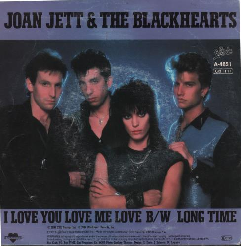 "Joan Jett I Love You Love Me Love 7"" vinyl single (7 inch record) Dutch JET07IL187615"