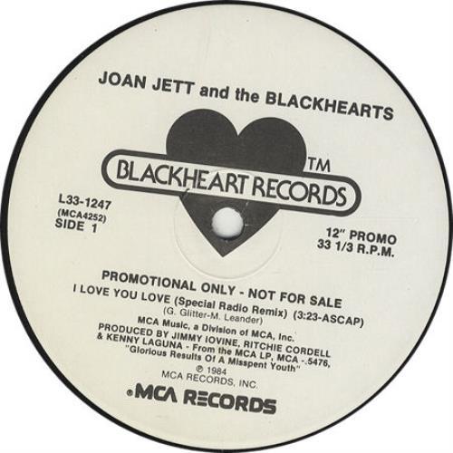 "Joan Jett I Love You 12"" vinyl single (12 inch record / Maxi-single) US JET12IL35266"