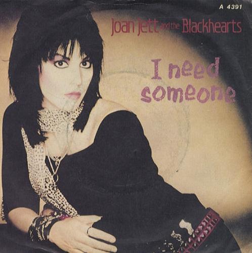 "Joan Jett I Need Someone 7"" vinyl single (7 inch record) UK JET07IN183239"