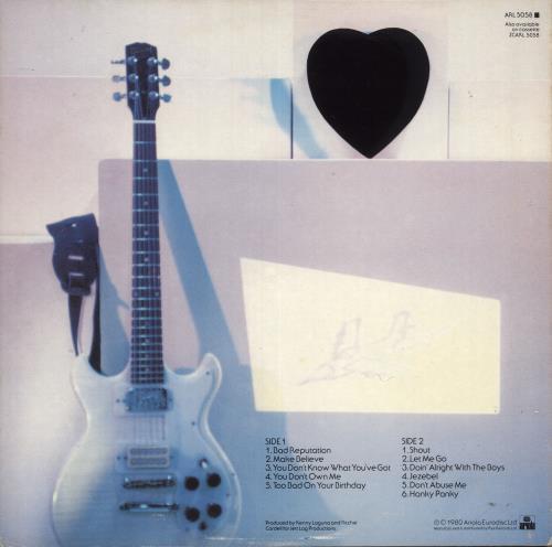 Joan Jett Joan Jett - EX vinyl LP album (LP record) UK JETLPJO737866