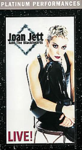 Joan Jett Live! video (VHS or PAL or NTSC) Canadian JETVILI283052