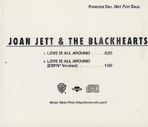 "Joan Jett Love Is All Around CD single (CD5 / 5"") US JETC5LO68732"