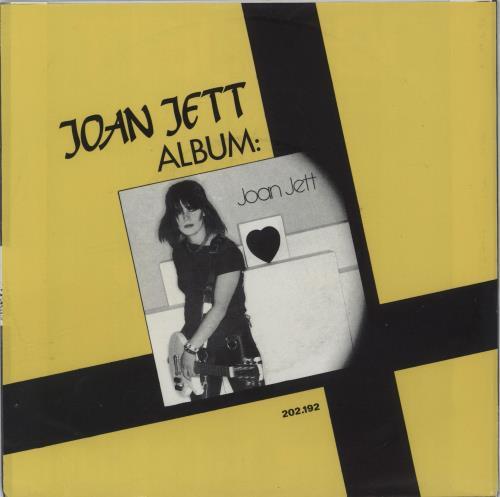 """Joan Jett Make Believe + Sleeve 7"""" vinyl single (7 inch record) Dutch JET07MA666376"""